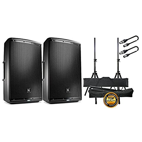 JBL Set Aktivlautsprecher/Stative/Kabel XLR/XLR 10 mt Bundle