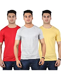 Diaz Soft Cotton Round Neck T-Shirt For Men Pack Of 3