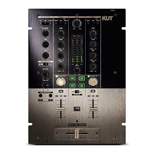 Reloop KUT Professioneller 2-Kanal Scratch/Battle DJ Mixer mit inno-Fader gold/schwarz -