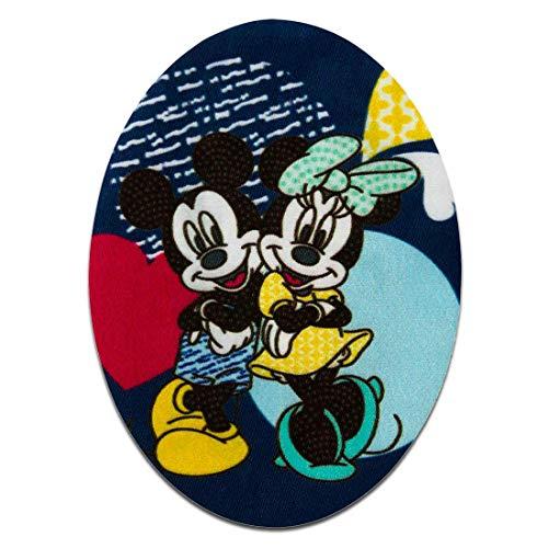 Aufnäher/Bügelbild - Mickey Mouse Set 2 Stück Mickey & Minnie Maus Disney - bunt - 7x9,5cm - Patch Aufbügler Applikationen zum aufbügeln Applikation Patches Flicken