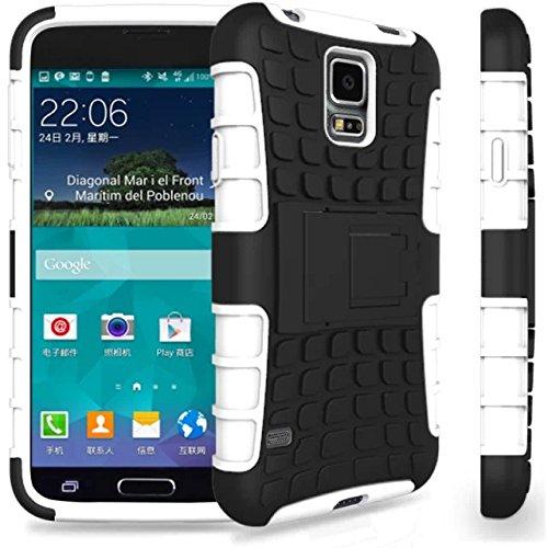 Stoßfest Hard Silikon Kunststoff Kick Stand Case für Samsung Galaxy S5Mini G800 -
