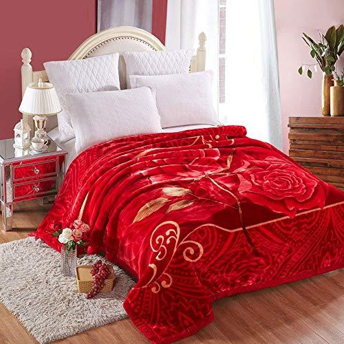 SpLYJ Verschlüsselte Dicke Plüschdecke Einzigen Doppeldecke Heim Bettwäsche Luxus Schlafsofa Große Weiche Warme Decke (Farbe : F, größe : 180 * 220cm)