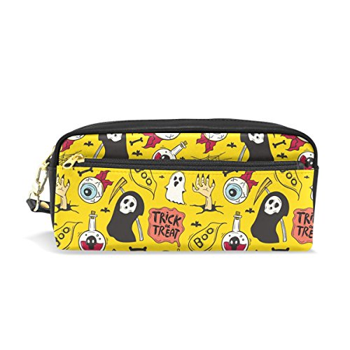 mydaily Auge Ghost gelb Bleistift Fall Halloween Funny Cartoon Stift Tasche Münzfach Kosmetik Make-up Tasche