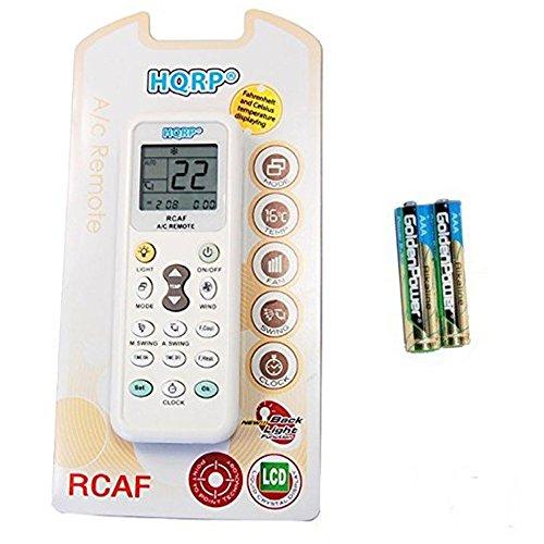 HQRP Mando a distancia universal A / C para Rijiliang, Rowa, Sacon, Samsung, Sanyo, Sanzuan, Saporo, Sensor Aire Acondicionado y otros
