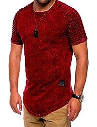 MT Styles Oversize style biker T-Shirt homme C-9053
