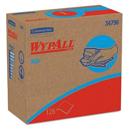 WypAll, 8376 X60-Reinigungstücher, 1-lagige, 10 Zupfboxen x 126 Tüchern, weiß -