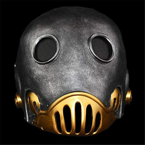 Kroenen Kostüm - VAWAA Hellboy Uhrwerk Roboter Mann Maske Terror Full Face Alien Harz Masken Kroenen Gesicht Maskerade Halloween Cosply Kostüm Party Requisiten