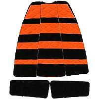 5 x Tabla De Surf Almohadillas Traseras Cubierta Apretones De Tracción Deporte Acuatico - negro naranja, un tamaño