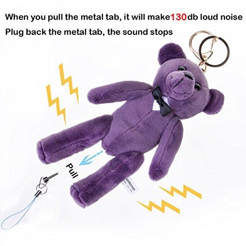 Image of Bear Gentleman 130db Safety Security Alarm Personal Self-Defense Rape Rob (Purple)