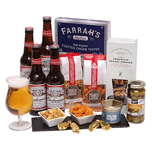 Best Bud Beer Hamper - Food & Beer Gifts For Him - Birthday Hampers & Mens Gifts
