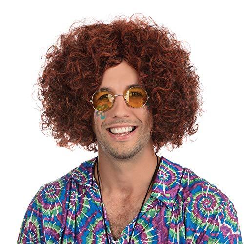 S Fancy Themen Dress Kostüm - Bristol Novelty bw283Man 's Hippie-Perücke, braun/schwarz, One Size