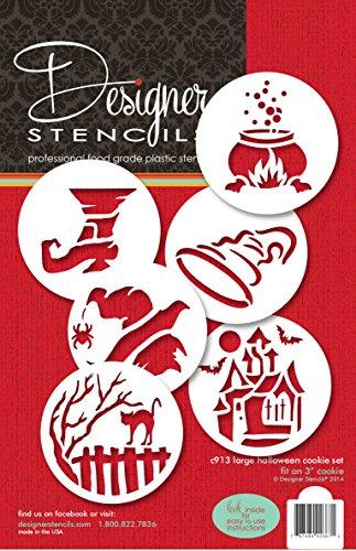 Große Halloween Cookie Schablone Set von Designer Schablonen (Schablonen Große Halloween)