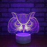 2018 Neue Eule 3D Licht Weihnachtsgeschenk Für Babyzimmer Nachtlicht Luminaria De Mesa Usb Led 3D Lampe Kinderzimmer Licht Schlafzimmer Lichter