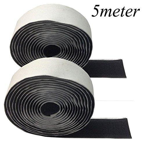 jjonlinestore-negro-gancho-y-cinta-de-velcro-20-mm-de-ancho-autoadhesivo-sticky-con-cierre-art-craft