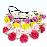 #3: Balloonsnmore Princess Floral Assorted Color Tiara for Girls (Pack of 12)