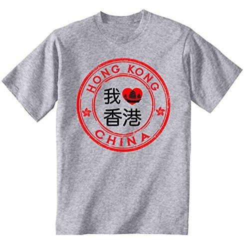 teesquare1st Men's Hong Kong Grey T-Shirt Size Small