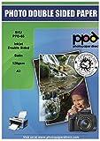 PPD PPD065-100 DIN A3 Inkjet Broschürenpapier Flyerpapier für Tintenstrahldrucker beidseitig doppelseitig seidenglänzend satin 120g DIN A3 (297x420mm) x 100 Blatt