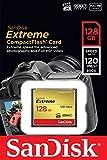 SanDisk SDCFXSB-128G-FFP Tarjeta de memoria Compact Flash de 128 GB (velocidad de lectura de 120 MB/s, velocidad de escritura de 85 MB/s, UDMA 7), dorado