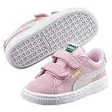 Puma Suede 2 Straps Inf, Baskets Basses Mixte Enfant, Rose (Pink Lady/Team Gold), 25 EU