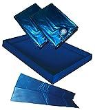 Hardside Wasserbetten Wasserkern Wasserbettmatratze Wasserbett Matratze DUAL DUO + Sicherheitswanne Auslaufwanne Wanne Standup Liner + Thermo Trennwand Thermotrennwand (180 x 200 cm F6 + F4)