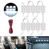 Lianqi 12V 10x6 LEDs Van Innenbeleuchtung Kits, Auto Deckenleuchte 5730 60SMD Panel Kit für Van Anhänger LKW RV, Camper, Garage, Buggy, Boot oder Fenster Beleuchtung (weiß)