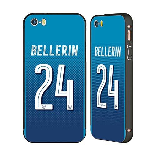 Ufficiale Arsenal FC Lucas Pérez 2017/18 Giocatori Away Kit Gruppo 1 Nero Cover Contorno con Bumper in Alluminio per Apple iPhone 6 Plus / 6s Plus Héctor Bellerín