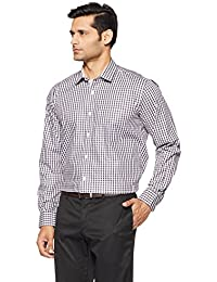 Amazon Brand - Symbol Men's Checkered Regular Fit Cotton Formal Shirt
