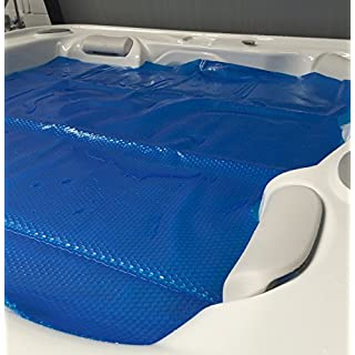 Happy Hot Tubs Quality 7ft x 7ft. Thermal Floating Spa Blanket Hot Tub Cover 400 Micron Bubble