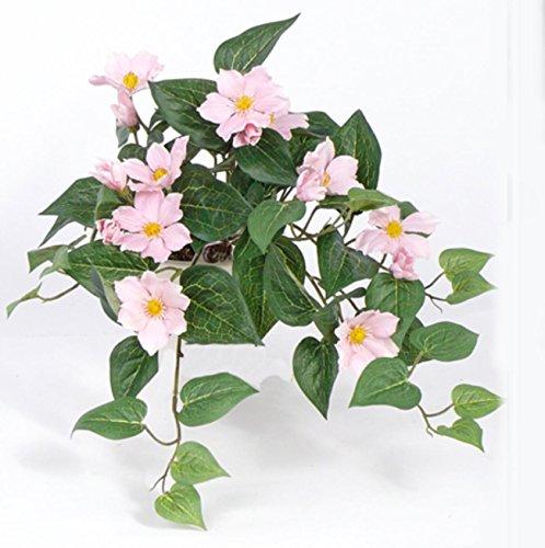 Künstliche Clematis zum stecken – Kunstpflanze 9 Blüten 6 Knospen. 1 Stück