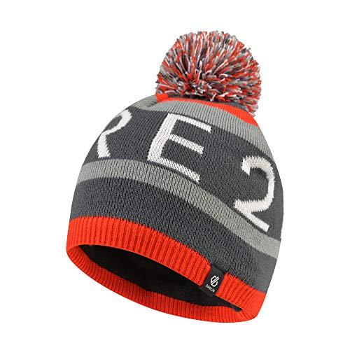 Dare 2b Jungen Agitate Beanie Fleece Lined Knitted Bobble Hat Kopfbedeckungen, Feuerrot, 3-6 -