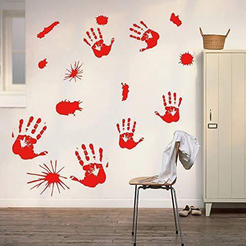 ndabdruck Fußabdruck Kleben Wandaufkleber Horror Pvc Dekoration Terror Raumdekoration Party Home Diy Decor ()