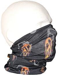 Black Grey Orange Flames Fire Tube Snood Scarf Biker Wear Ski Outdoor Sports