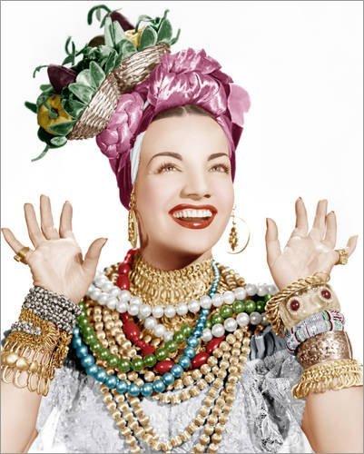 Forex-Platte 100 x 120 cm: Carmen Miranda von Everett (Carmen Kostüm Miranda)