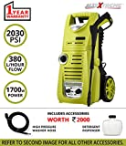 #4: AllExtreme AE-60217M Portable Electric High-Pressure Washer Sprayer Car Washer Cleaner Machine with Rolling Wheels Vehicle Cleaning and Domestic with Pressure Washer with Power Hose Nozzle Gun, Hose Reel and Additional Accessories (1700W, 2030PSI)