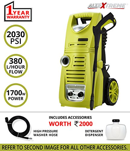 AllExtreme AE-60217M Portable Electric High-Pressure Washer Sprayer Car Washer Cleaner Machine with Rolling Wheels Vehicle Cleaning and Domestic with Pressure...