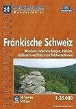 Hikeline Wanderführer Fränkische Schweiz, Wandern zwischen Burgen, Höhlen, Schlössern und bizarren Felsformationen, 1 : 35 000, wasserfest und reißfest, GPS zum Download -
