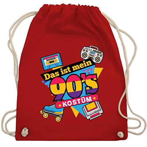 Karneval & Fasching - Das ist mein 90er Jahre Kostüm - Unisize - Rot - WM110 - Turnbeutel & Gym Bag
