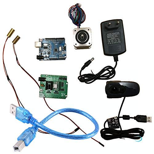 Kit électronique de scanner Reprap Ciclop 3d, moteur, lasers, contrôleur UNO, carte d'extension ZUM Scan, prise, kit complet d'appareil photo