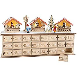 Small Foot 1290 Calendario dell' Avvento, Legno, Marrone, 40 x 10 x 22 cm