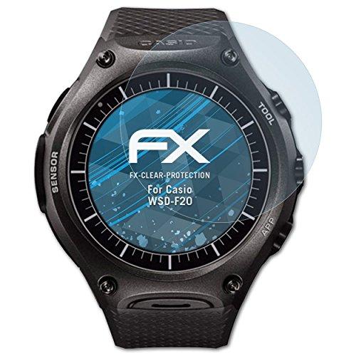 atFoliX Schutzfolie kompatibel mit Casio WSD-F20 Folie, ultraklare FX Bildschirmschutzfolie (3X)