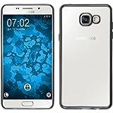 Coque en Silicone pour Samsung Galaxy A5 (2016) A510 - Slim Fit gris - Cover PhoneNatic Cubierta + films de protection