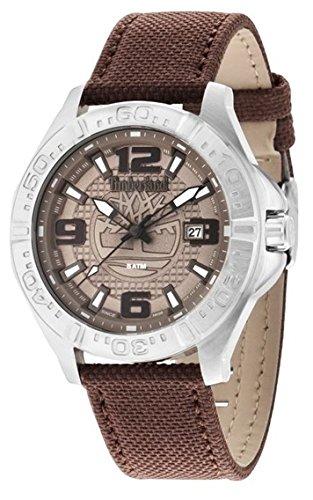 Timberland Wallace hommes de montre à quartz avec Gris Cadran Affichage Analogique et Bracelet en Cuir Marron TBL. 14643js/13