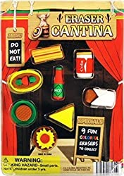 Cantina Mexican Food Erasers Set Of 20 Pcs