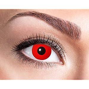 Farbige Wochenkontaktlinsen Rot Halloween Karneval Party