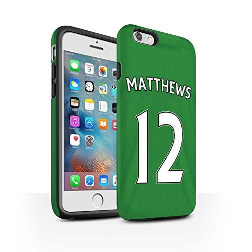 Offiziell Sunderland AFC Hülle / Matte Harten Stoßfest Case für Apple iPhone 6S+/Plus / Pack 24pcs Muster / SAFC Trikot Away 15/16 Kollektion Matthews