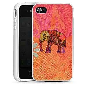 DeinDesign Apple iPhone 4s Silikon Hülle Case Schutzhülle Elefant Goa Indien