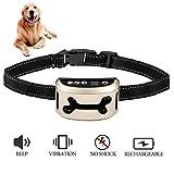 [nuova versione 2017] Jingfude ricaricabile cane abbaiare controllo Training collare beep/vibrazione/sensibilità Anti Bark collare riflettente per piccoli medi cani di grandi dimensioni