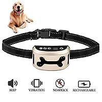 [neue Version 2017] Jingfude Hund bellen Kontrolle Halsband/Vibration/Empfindlichkeit Anti Barke reflektierende Halsband für kleine mittlere Hunde