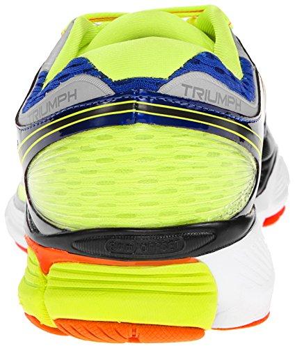 Saucony Triumph 12 Scarpe da Corsa, Blu / Giallo / Arancione Blu/Giallo