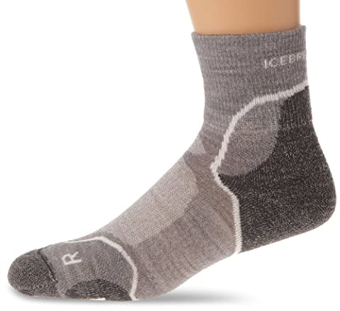 Icebreaker Hike+ Light Mini Chaussettes Homme Twister Heather/White/Oil FR : M (Taille Fabricant : M)